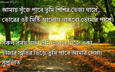 Good Morning Kobita Images Bengali With Sms Quotes Pictures Good Morning Images Sms Good Morning Wishes For Friends Messages P Os