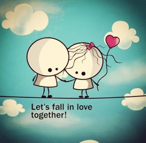 Lets Fall In Love Cute Love Quote