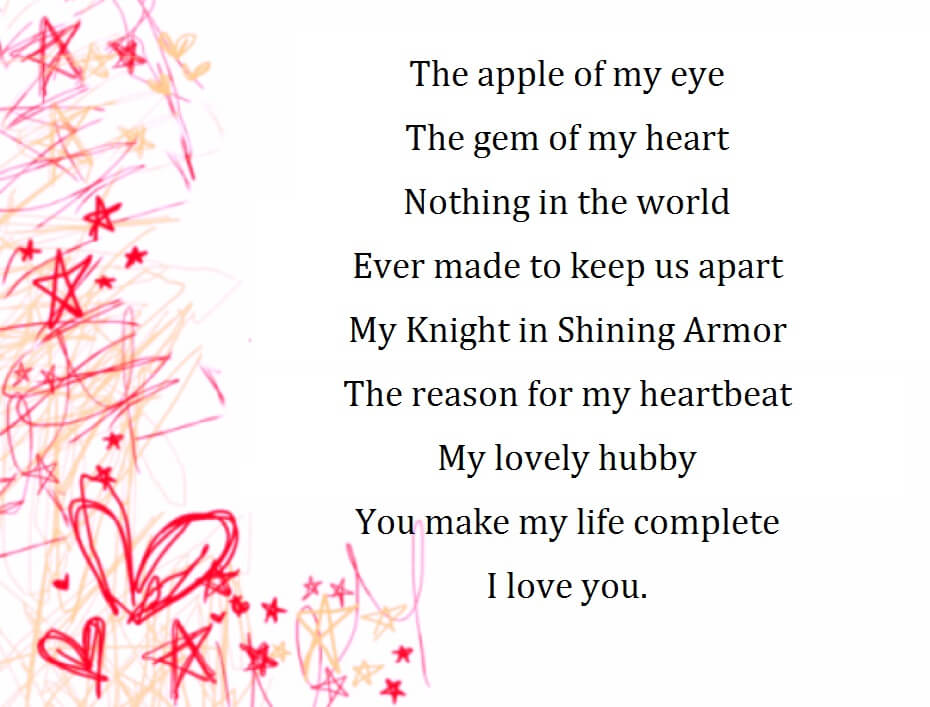 Love Poems For Husband