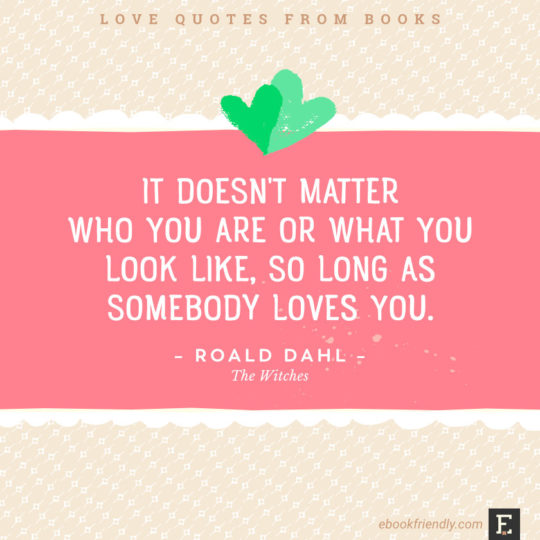 Love Quotes From Books It Doesnt Matter Who You Are Or What You