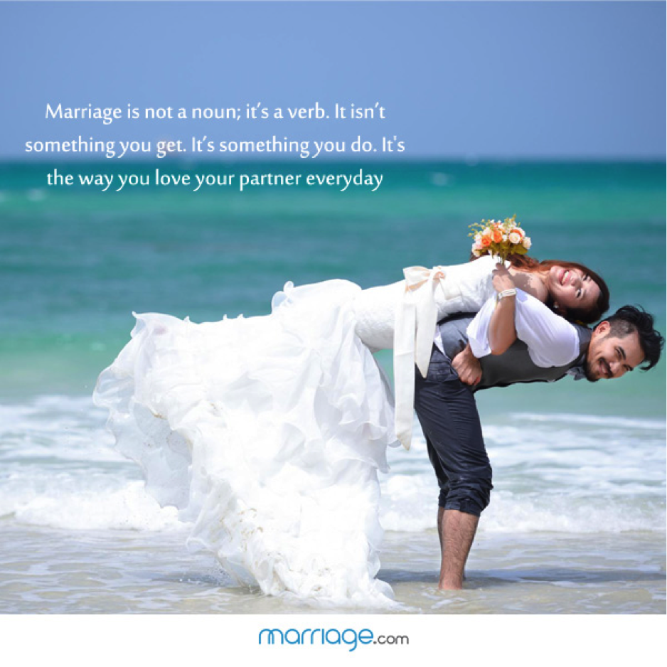 Marriage As A Verb