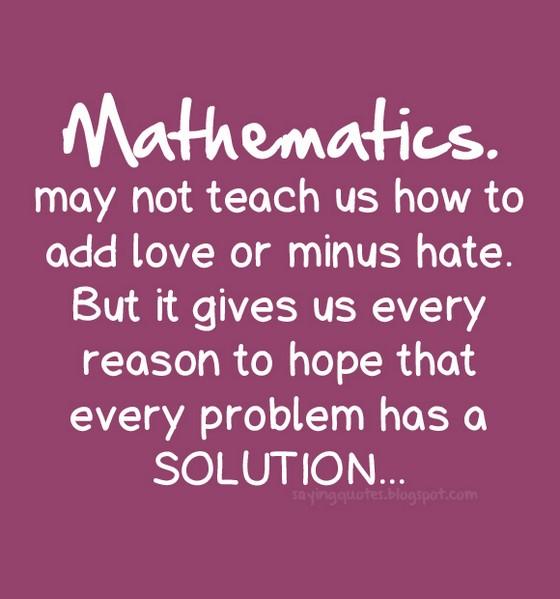 Math Us Quotes Quotesgram