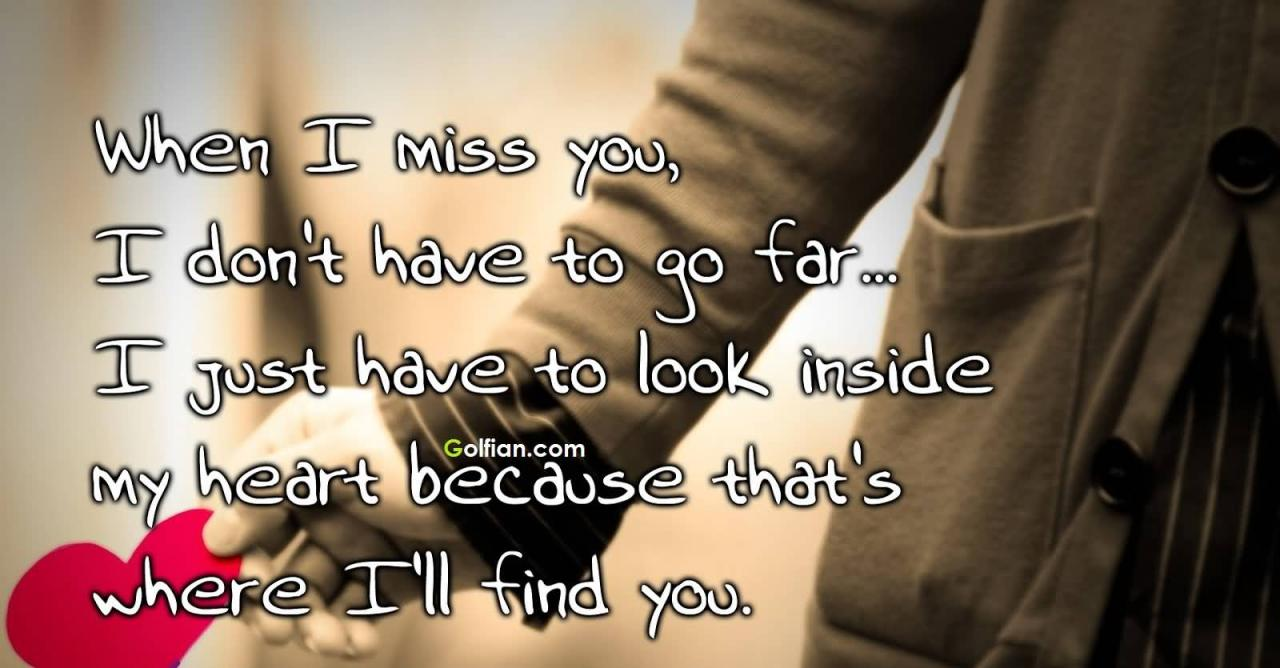 Missing You Quotations