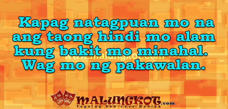 English Tagalog Love Quotes