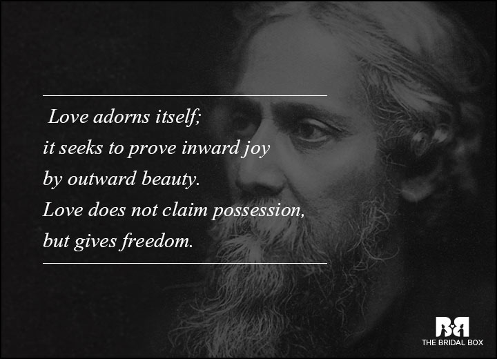Rabindranath Tagore Love Poems Love Gives Freedom