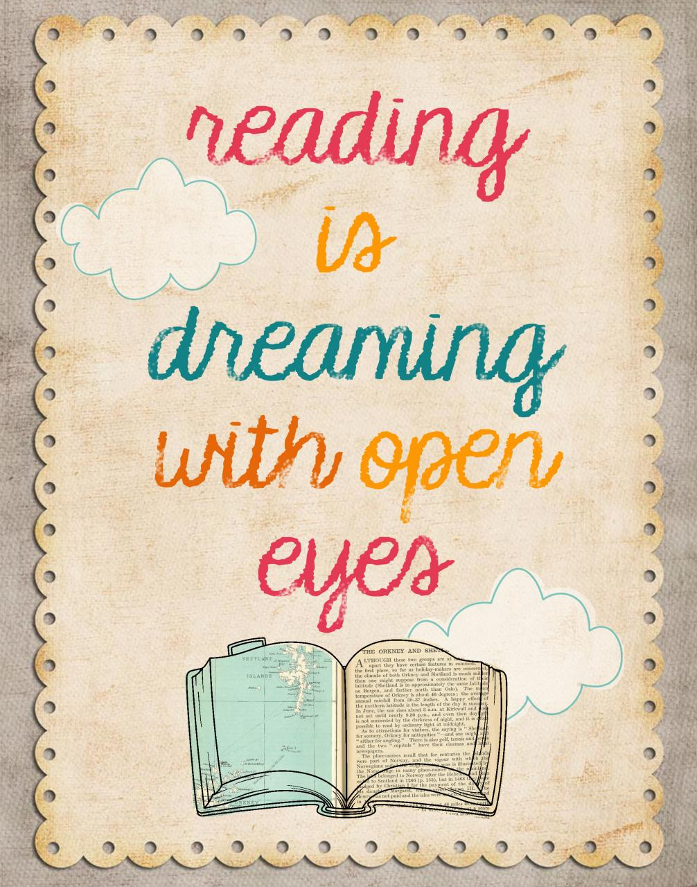 Bibliophile Quote Reading Is Dreaming