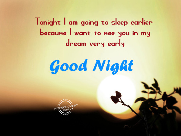 Romantic Good Night My Love Tonight I Am Going To Sleep Earlier Good Night Wishes Quotes Pictures Messages Goodnight Thoughts Greetings Wallpapers