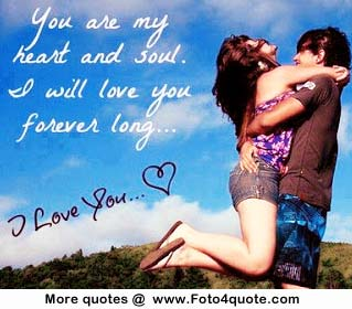 Love Romantic Quote And P O I Will Love You Forever Couple Hugging Image