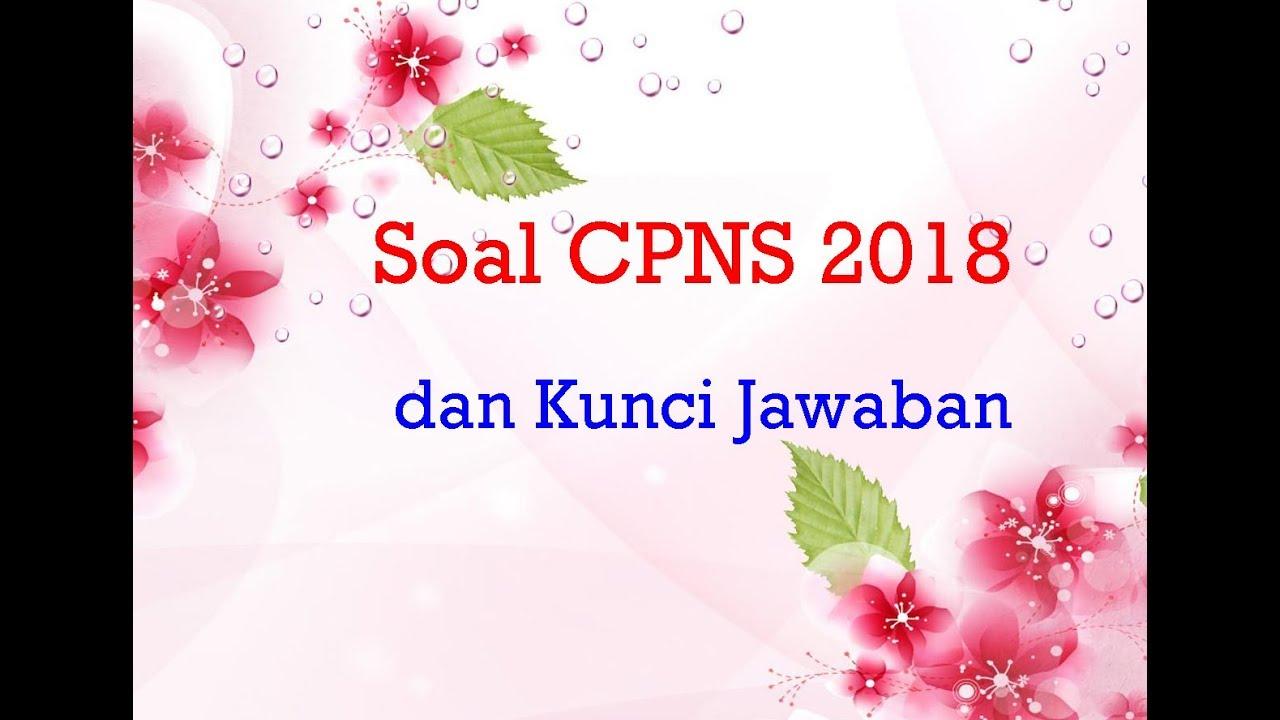 Contoh Soal Cpns 2018 Pdf Dan Kunci Jawaban Qwerty