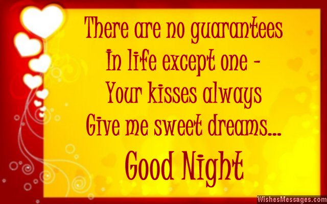 Sweet Good Night Quote For Husband From Wife