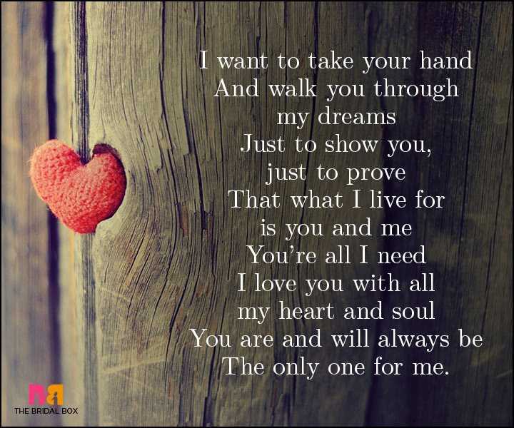 Unconditional Love Poems I Want To Take Your Hand