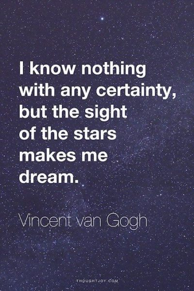 Vincent Van Gogh Quotes About Love Stars And Life