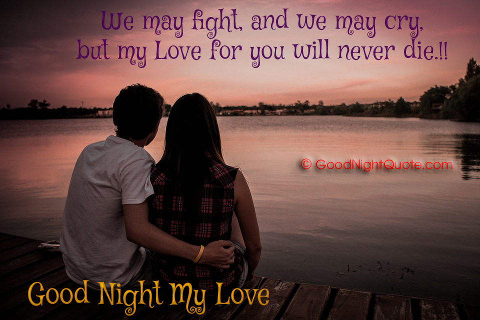 Good Night Quotes For Lover We May Fight And We May Cry But