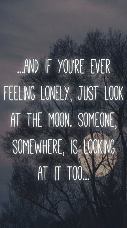 Moon Lonely And Quote Image