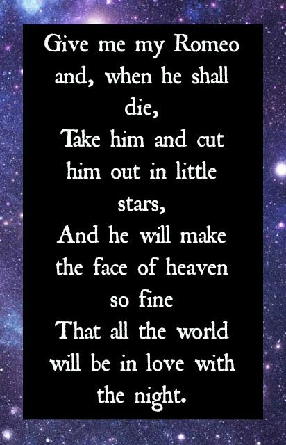 Favorite Romeo And Juliet Quote Shakespeare