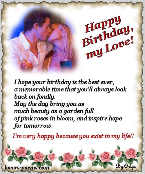 Happy Birthday Love Words