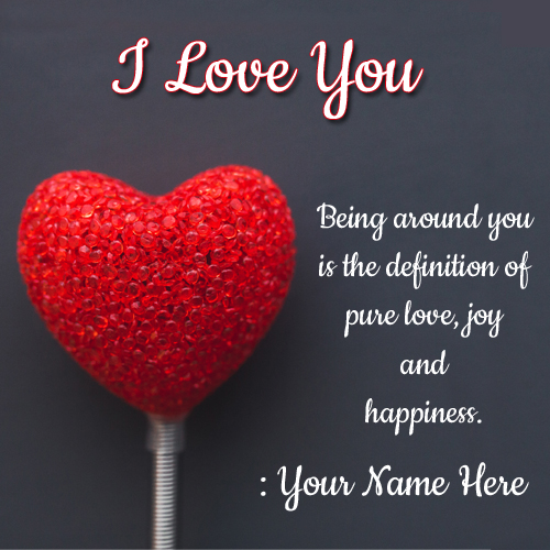Pure Love Joy And Happiness Quote Greeting With Name