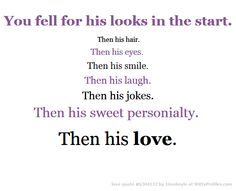 You Fell For His Looks In The Start