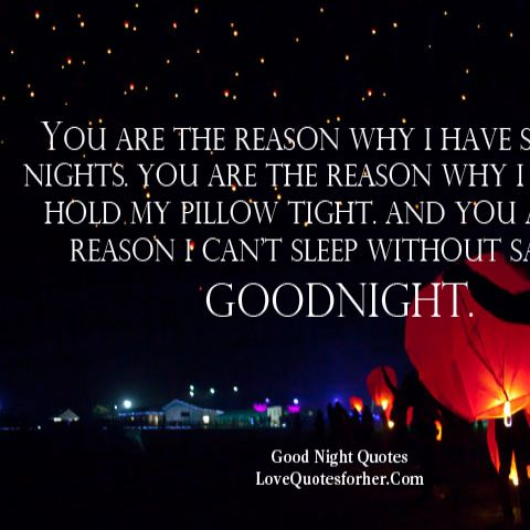 Cute Good Night Quotes For Her Desktop Image