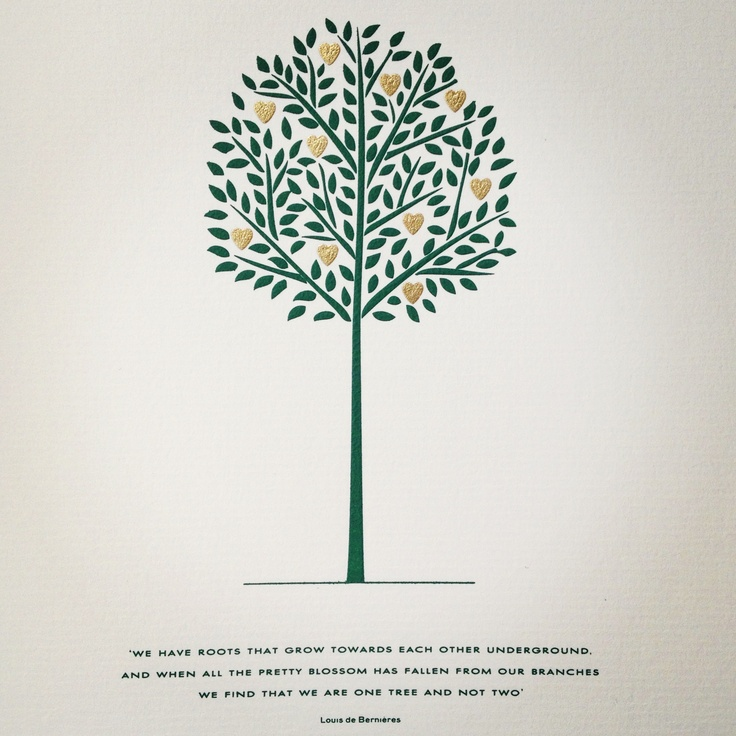 Two Roots Make One Tree Quote Love Saying