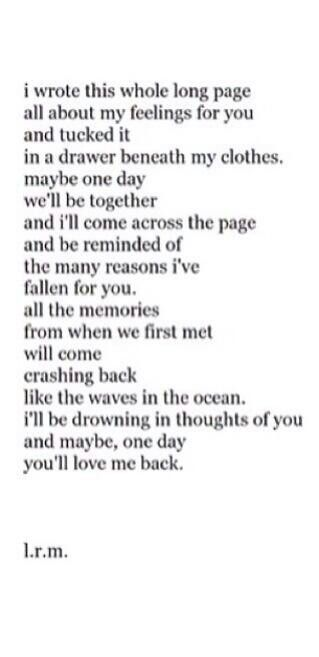 Maybe One Day Youll Love Me Back