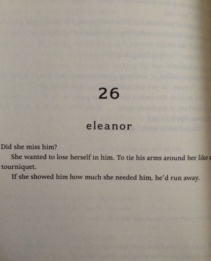 Eleanor And Park Rainbow Rowell Probably My Favorite Part In The Book You Dont Need Me Like I Need You