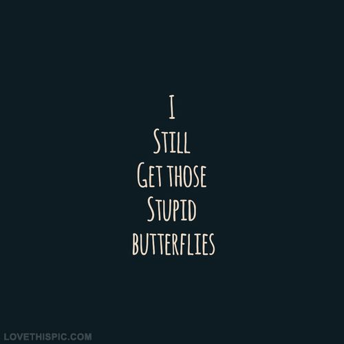 I Still Get Those Stupid Butterflies Love Love Quotes Quotes Quote Girl Butterflies Girl Quotes Love Picture Quotes Love Sayings Love Quotes And Sayings