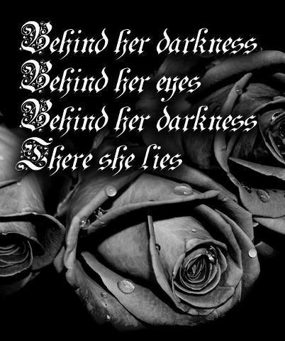 Behind Her Darkness Black Artblack Whitequotes