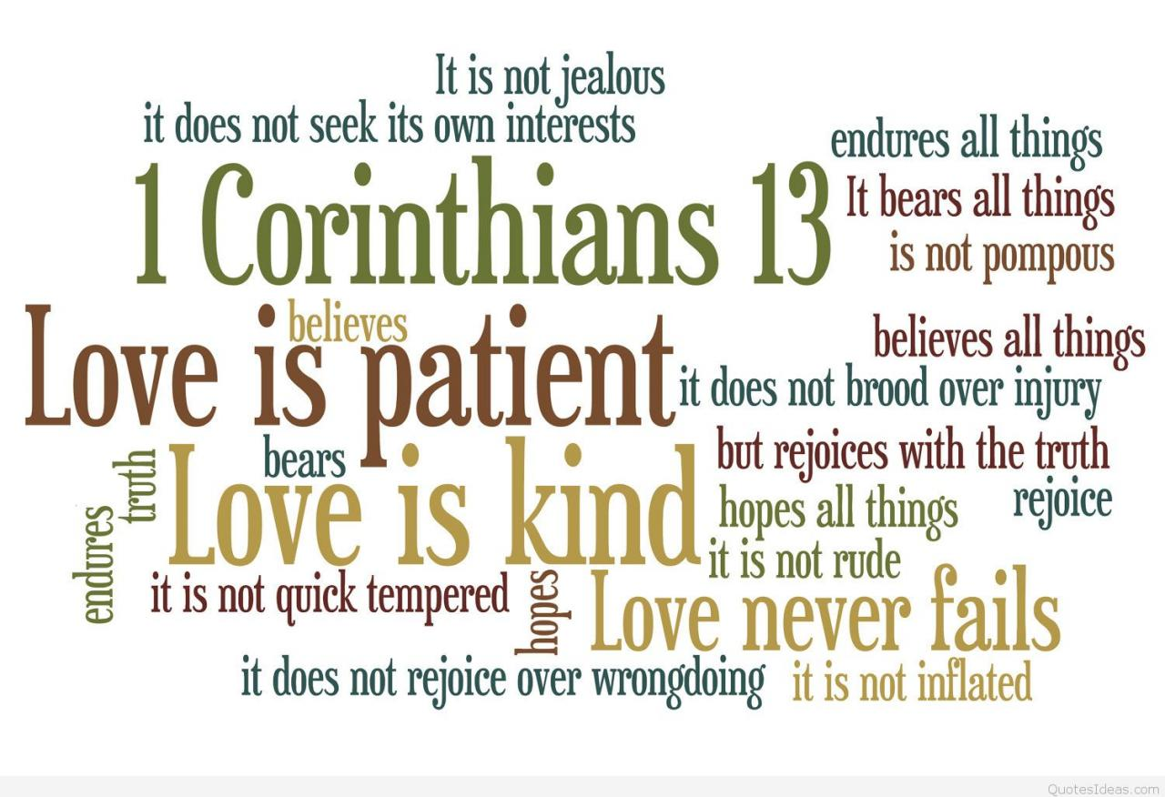 Endures Quotes Of Love From The Bible Truth Quick Tempered Rejoices Over Wrong Doing Inflated Fails