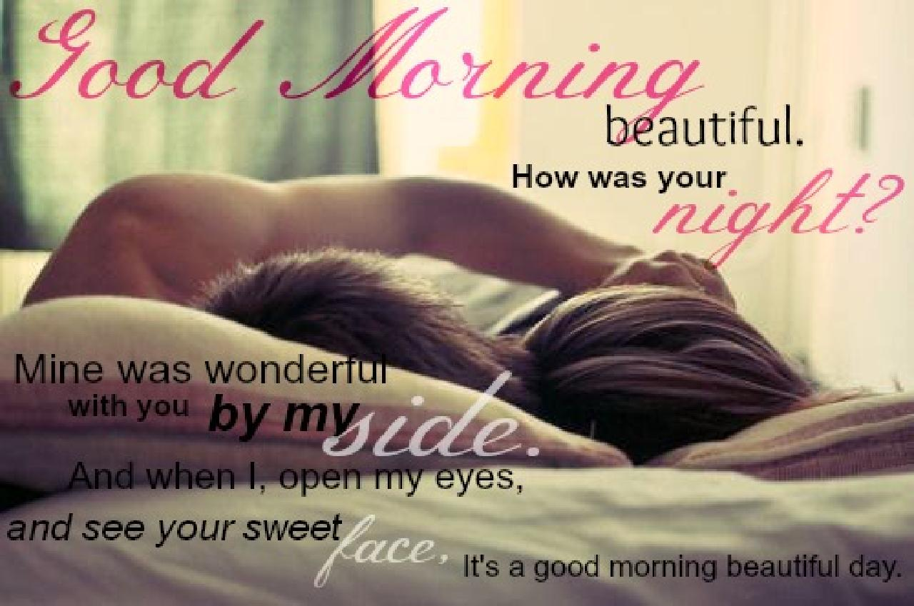 Good Morning Beautiful Couple On Bed