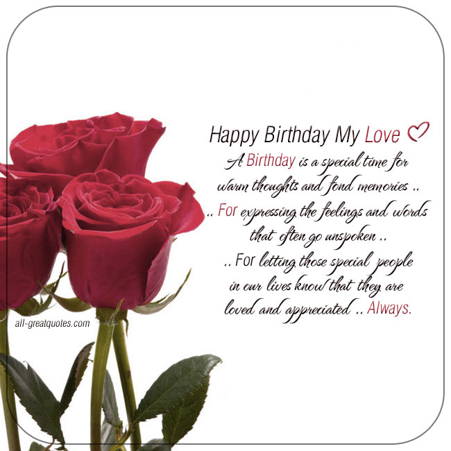 Happy Birthday Love Poem