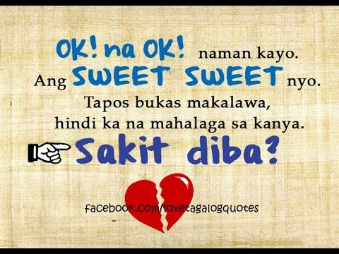 Opm Hugot English Tagalog Love Songs Quotes