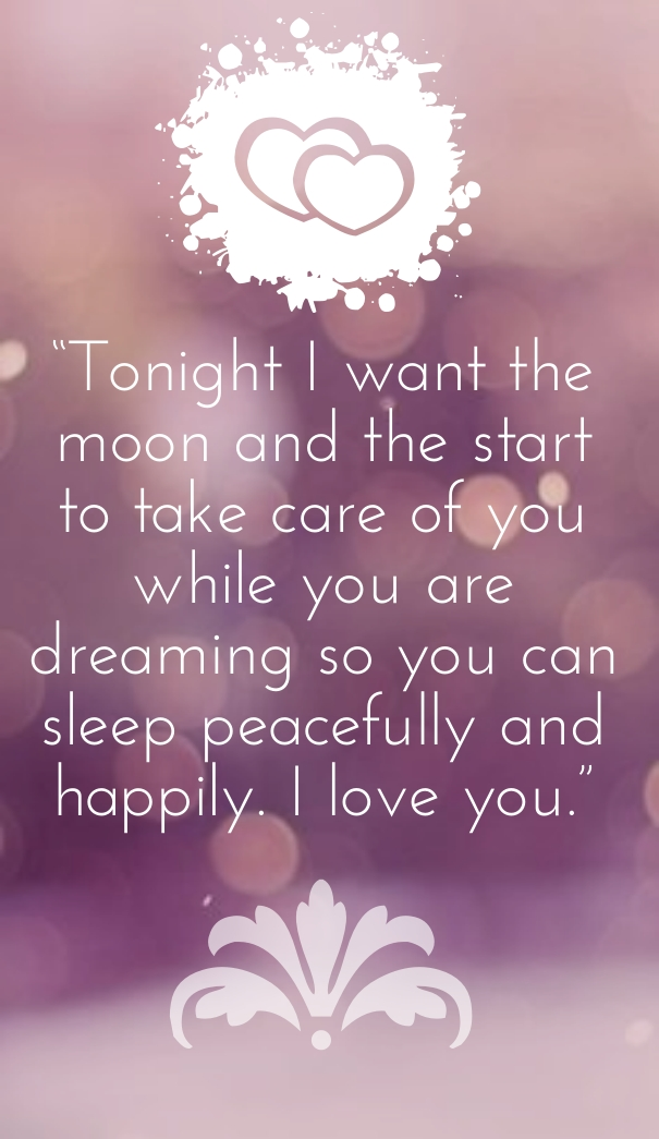 Goodnight Lovely Dream I Love You Quotes For Her And Him