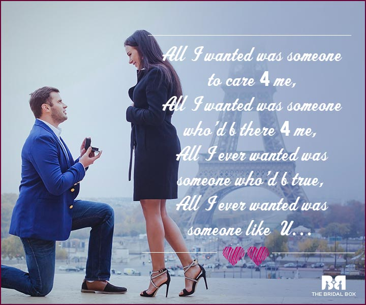 Love Proposal Quotes All I Wanted