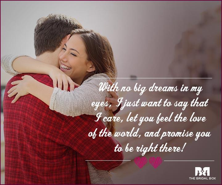 Love Proposal Quotes No Big Dreams