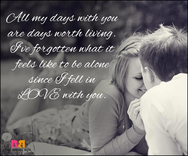 Love Quotes For Wife Since I Fell In Love With You