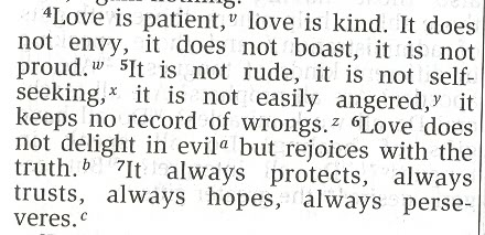 Image In The Bible Clarified Love With The Bible Verse Above  Corinthians
