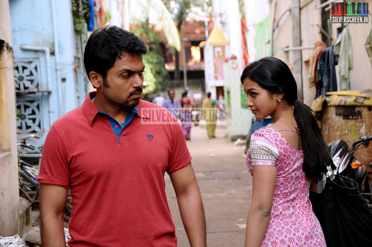 Actor Karthi And Catherine Tresa In Madras Movie Stills
