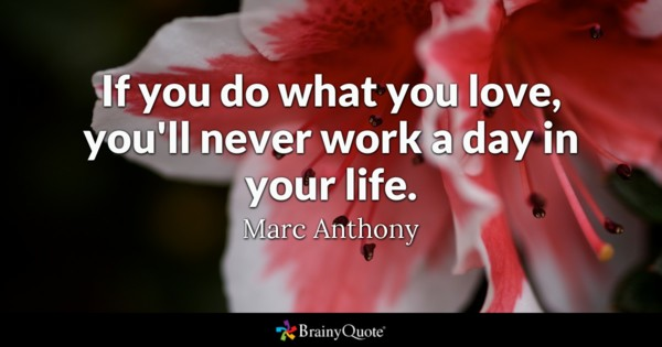 If You Do What You Love Youll Never Work A Day In Your