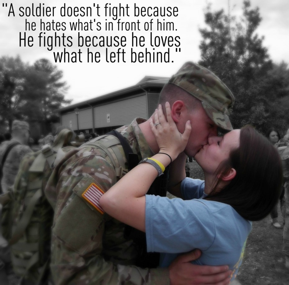 Army Love Quotes Gallery Military Love Quotes With Picture Of The Kissing Couple