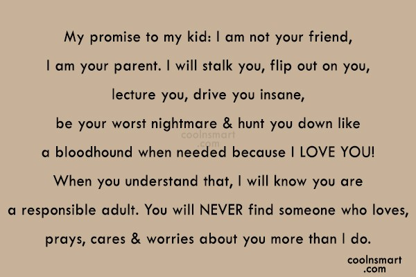 Children Quote My Promise To My Kid I Am