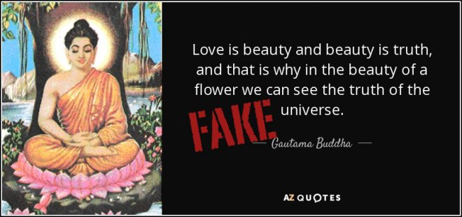 Little Known Fact The Words A Fake Buddha Quote All Bout Truth Were Originally In Alanis Morissettes Song Ironic But She Took Them Out When She