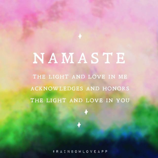 Rainbow Love App Yoga Asana Namaste Yogi Quotes