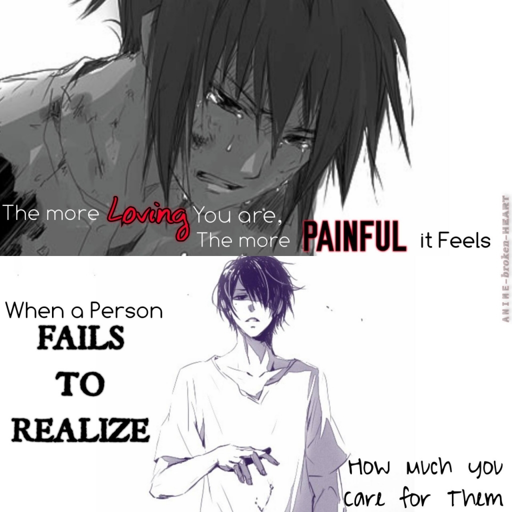 Romantic Anime Quote Girl Anime Love Breaks Hearts