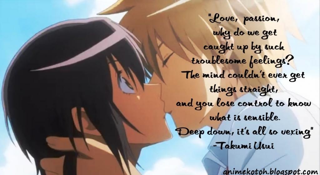 Romantic Anime Quote Girl Anime Love Quotes Love Quotes