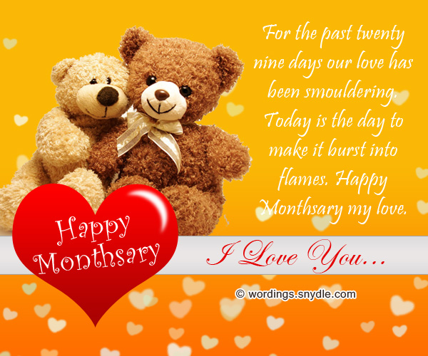 Happy Monthsary My Love Romantic Monthsary Messages