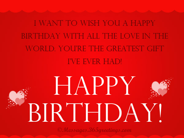 Sweet Birthday Greeting For Boyfriend