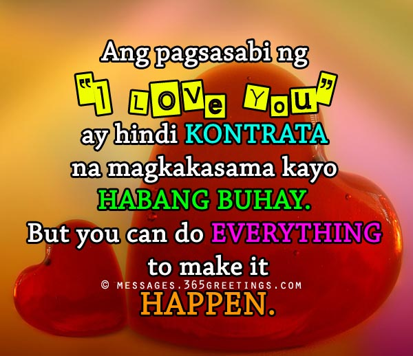 Tagalog I Love You Quotes
