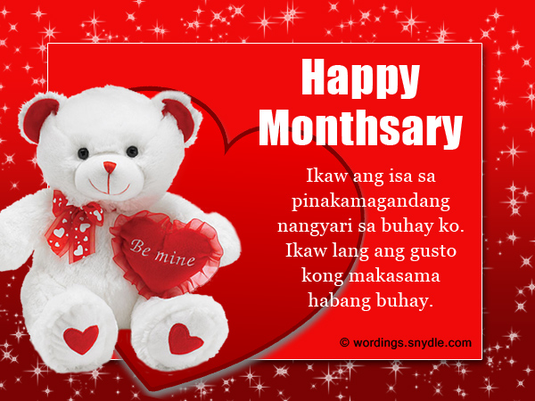 Tagalog Monthsary Quotes Messages