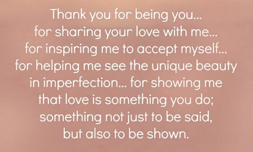 Thank You For Being You For Sharing Your Love With Me Thank You Love Quotes For Husband